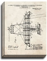 Flying-machine Patent Print Old Look on Canvas - $39.95+