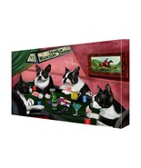 House of Boston Terriers Dogs Playing Poker Canvas (10x12) - $48.51