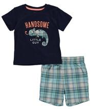 Carter's Infant Boys 2pc T-Shirt & Shorts Set Handsome Little Guy Size 3... - $12.60