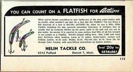 1948 Print Ad Flatfish Fishing Lures Helin Tackle Co. Detroit,MI - $8.89