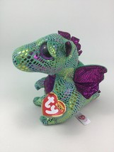 """Ty Beanie Boos Cinder Dragon Plush 6"""" Stuffed Toy Animal 2018 New with Tags - $10.84"""