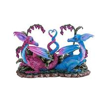 Pacific Giftware PT Lovely Couple Winged Dragons Home Tabletop Decorative Resin  - $54.44