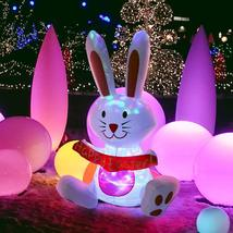 4ft Inflatable LED Lighted Happy Easter Bunny Yard Decoration - £49.00 GBP