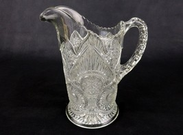 Imperial Glass Water Pitcher, Horseshoe Curve/Twins Pattern #411, Dimple... - $58.75