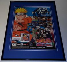 Shonen Jump Naruto Clash of Ninja 2006 GB 11x14 Framed ORIGINAL Advertis... - $34.64