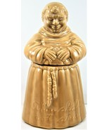 Cumberland Ware Cookie Jar CW Monk Friar Thou Shall Not Steal Vintage 13... - $69.29
