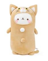 Seyoung Fluffy Stuffed Cute Pink Cat Figurine Animal Soft Mochi Plush Toy
