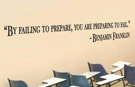 Benjamin Franklin Inspirational Teacher Wall Quote Vinyl Sticker Decal (b) - $14.99+