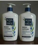 Kiss My Face Body Lotion Olive & Aloe Fragrance Free 16 fl. oz. LOT OF 2... - $54.33