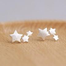 New Fashion Silver Color Star Stud Earrings for Women Elegant Wedding Je... - $3.95