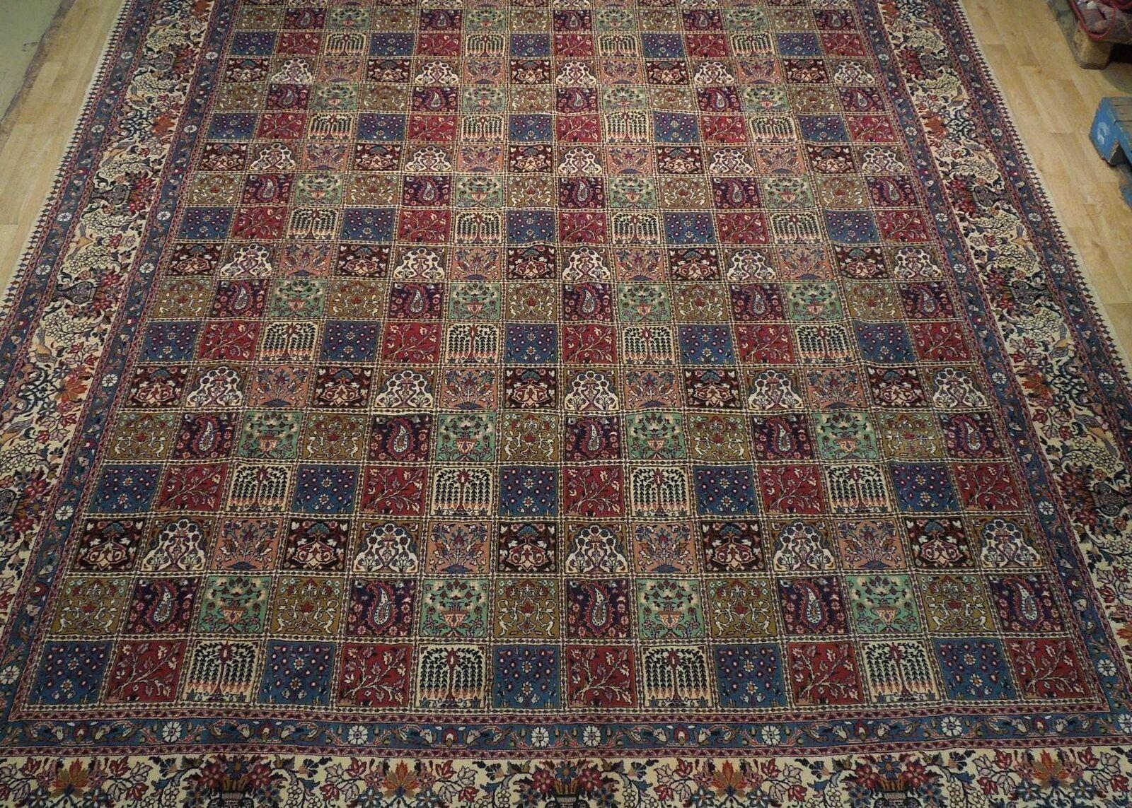 9 x 13 Fine Quality Complex Design Multi-Color Bakhtiari Persian Rug image 12