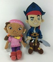 "Jake and the Neverland Pirates Lot Jake Izzy 12"" Plush Stuffed Toys Disn... - $24.70"