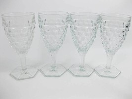 Vintage Fostoria American Clear (Stem 2056) Water Goblets (4) - $39.00