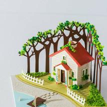Scenery Lake House Cottage 3d model Miniature Papercraft lace paper scul... - $39.60
