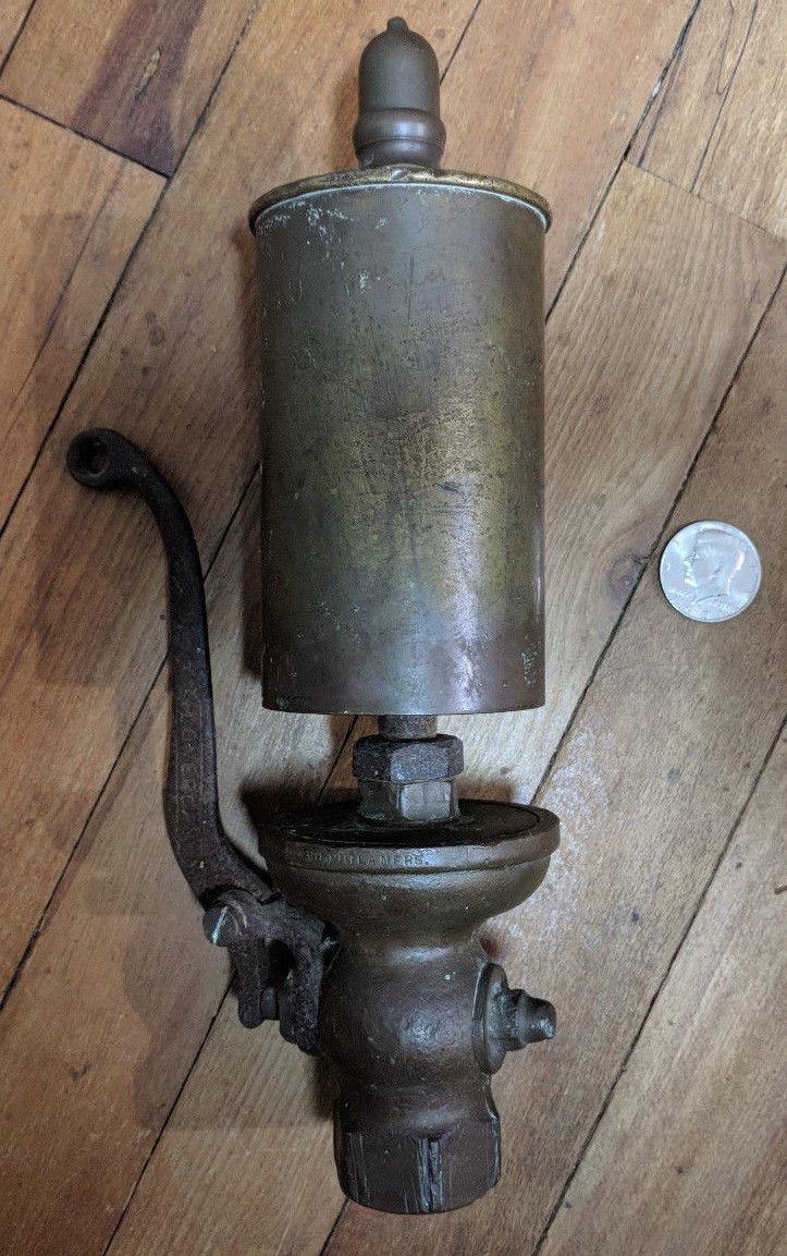 """Antique Lonergan Brass Steam Whistle 12"""" x 3"""" Locomotive ..."""