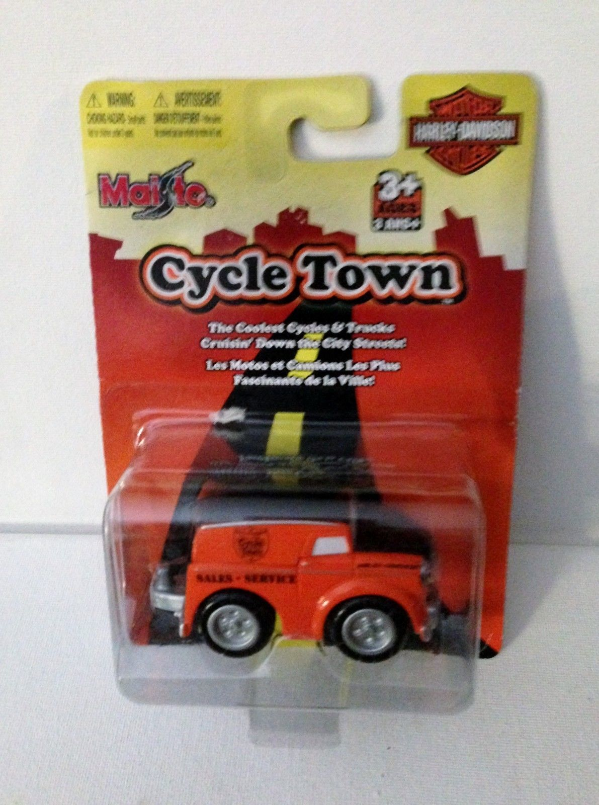 Maisto Harley-Davidson Cycle Town Service Heavy Haulin Van Truck Orange