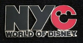 Disney New York City NYC World of Disney Black and Red Logo pin - $9.15
