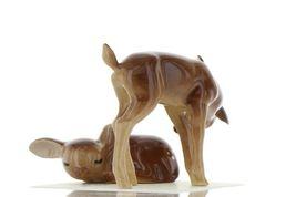 Hagen Renaker Miniature Deer Sister Doe & Sleeping Fawn Ceramic Figurine Set image 5