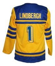 Custom Name # Tre Kronor Sweden Retro Hockey Jersey New Lindbergh #1 Any Size image 2