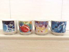 Disney Frozen, Rapunzel, Lilo Stich, Cinderella Mini Ceramic Cup Set. Ve... - $59.99