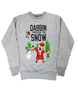 Ladies Dabbin Through The Snow Sweatshirt Size XS to XXL (XXL, Grey) - $9.81