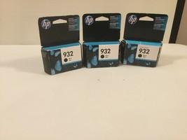 3 Genuine HP 932 Black Noir Ink Cartridge Original New Sealed    (Z3) - $19.79