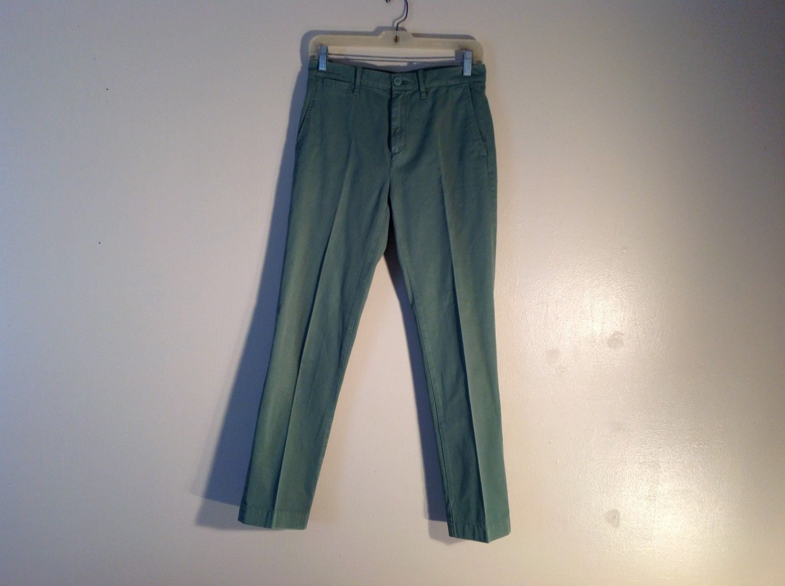 CREW CUTS Green Slim Sun Faded Pants 100% Cotton Size 14 young or skinny person
