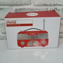 Coca Cola Vintage AM/FM Radio Tabletop Decor Retro Mini Radio  - $25.23