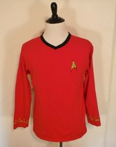 Star Trek Command Uniform Shirt Red V-Neck Size Mens Small Womens Large - $23.36
