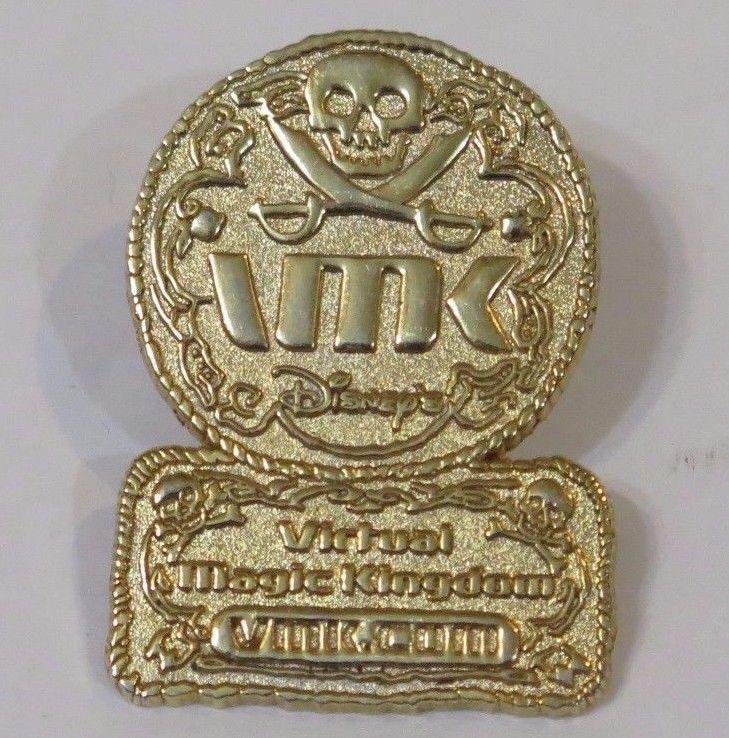 Disney Virtual Magic Kingdom Pirate Coin and 50 similar items