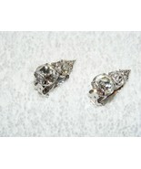 EISENBERG ICE CLEAR SWAROVSKI CRYSTAL STONE CLIP ON EARRINGS SIGNED EUC - $54.99