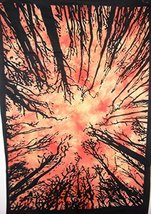 Traditional Jaipur Urban Tree Wall Art Poster, Hippie Wall Tapestry, Indian Dorm - $15.67