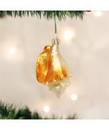 OLD WORLD CHRISTMAS GOLDEN SEA SHELL NAUTICAL GLASS CHRISTMAS ORNAMENT 1... - $10.88