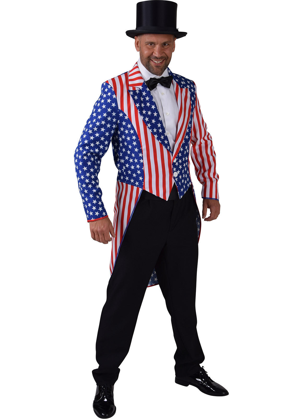 Mr America / Uncle Sam , Stars and Stripes Tailcoat  - Gents
