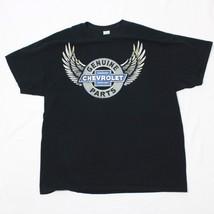 Chevrolet Parts T-shirt Mens L Large Black Tee Mechanic Shop Shirt Chevy... - $19.73
