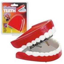 Deluxe Chattering Teeth Classic Wind Up Office Toy Prank Gag Dentures - $11.99