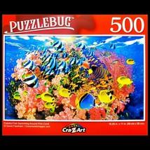 500 Piece Jigsaw Puzzle Puzzlebug 18 x 11, Colorful Fish Swimming Around... - $5.18