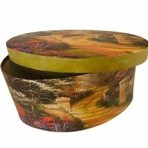 Thomas Kinkade Gift Box Spring Gate Painter Light 1996 vtg Christmas dec... - $24.70