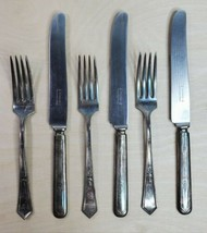 1920 ROGERS XII SILVERPLATE 3 Forks La Touraine 3 Butter Knives Set of 6 - $39.19