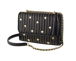 NWT Tory Burch Fleming Star-Stud Small Leather Convertible Shoulder Bag ... - $395.95