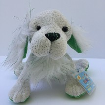 Webkinz St Pats Setter Puppy White Plush Shamrock Dog Ganz Stuffed Anima... - $14.36