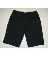 St John's Bay Navy Bermuda Mid Rise Shorts-Sz 6-Mid Rise Women's-EUC-FRE... - $13.99