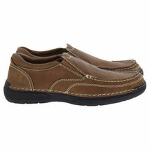 Izod Men's Charlie Memory Foam Insole Slip On Shoes Color: Dark Tan NEW NWOB image 2