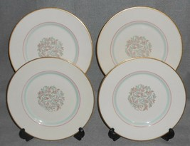 Set (4) Franciscan Fine China Rossmore Pattern Salad Plates Made In California - $23.75