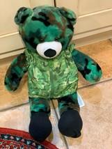 """Camo Green Build A Bear 18"""" Plush Teddy Bear Talks I Love You Military Army New - $20.66"""