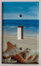 Ocean beach Seashell Light Switch Power Outlet wall Cover Plate Home Decor