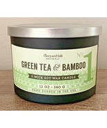 Vineyard Hill Naturals Candle Green Tea & Bamboo 3 Wick Soy Wax Candle 1... - $49.00