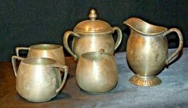 Quadruple Plated Silver Creamers & Sugar Bowls Vintage Empire Crafts AB 341 image 2