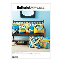 Butterick Homeware Easy Sewing Pattern 6500 Patchwork Cushions - $5.83