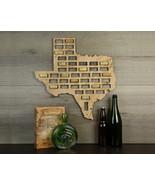 Wine Cork Traps State of Texas Wooden Wine Cork Organizer Wall Decoration - $39.99